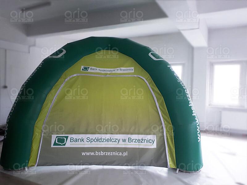 namiot pneumatyczny Bank Spółdzielczy Brzeźnica