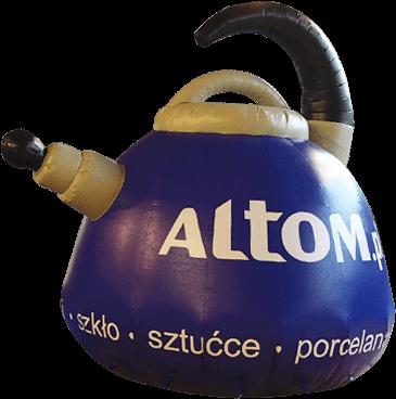 balon o nietypowym kształcie czajnika